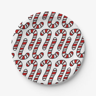 Candy Canes Paper Plate