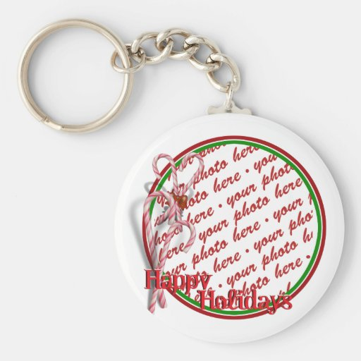 Candy Canes Photo Frame Keychains