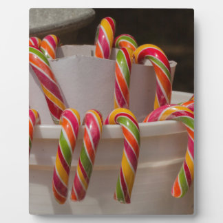 candy canes plaque