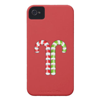 Candy Canes red green BlackBerry Bold Case-Mate iPhone 4 Case