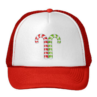 Candy Canes red green Hat