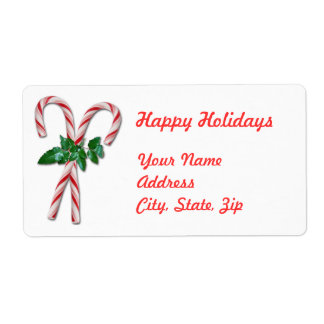 Candy Canes Shipping Label