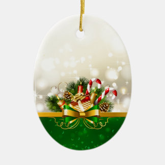 Candy canes with bow christmas ornament