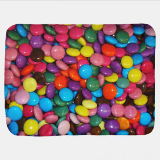 Candy cased choclate buttons Texture Template Baby Blanket