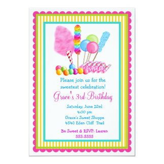 Candy Circus Invitations