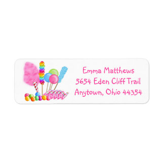 Candy Circus Return Address Labels
