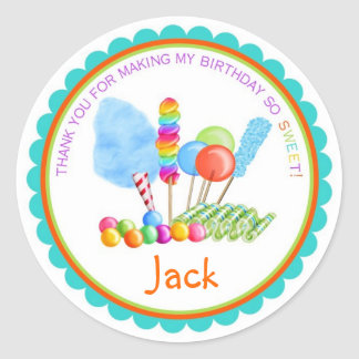 Candy Circus Stickers- boy colors Round Sticker