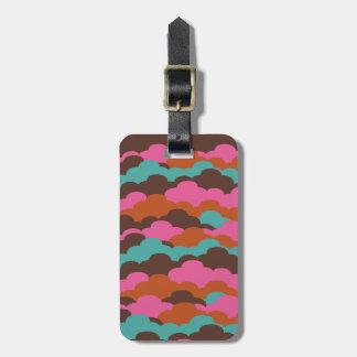 Candy Clouds custom luggage tag