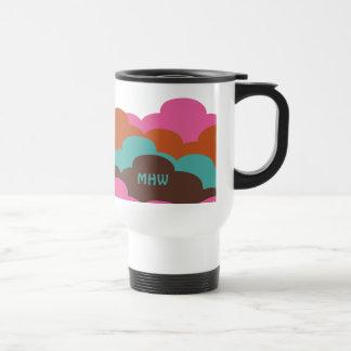 Candy Clouds custom monogram mugs