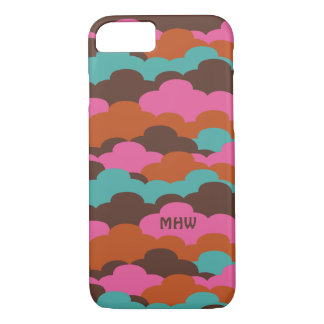 Candy Clouds custom monogram phone cases