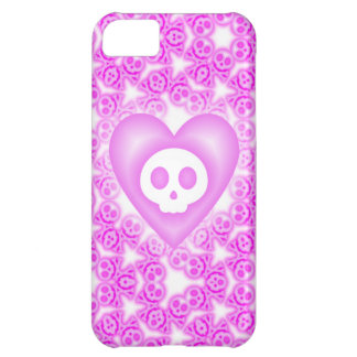 Candy Coated Pink Heart and Skull iphone 5 case