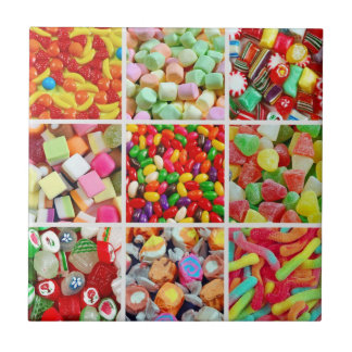 Candy collage tile