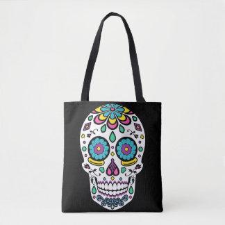 Candy Colorful Sugar Skull Tote Bag