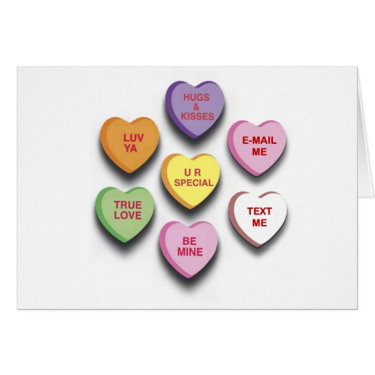 Candy Conversation Hearts Gifts and Apparel Card