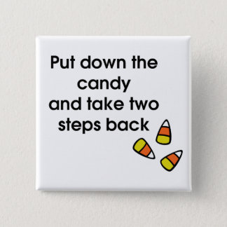 Candy Corn 15 Cm Square Badge
