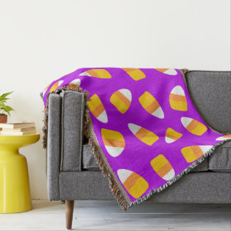 Candy Corn All Over Throw Blanket