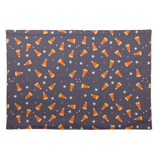 Candy corn and Stars Halloween Placemat
