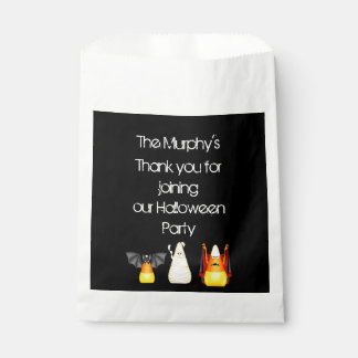 Candy Corn Bat Dracula Mummy Halloween Favour Bags