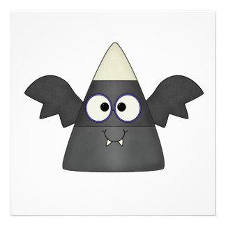 Candy Corn Bat Personalized Invitation