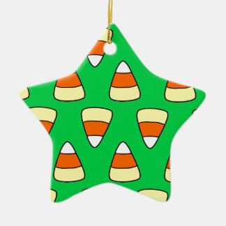 Candy Corn Ceramic Star Decoration