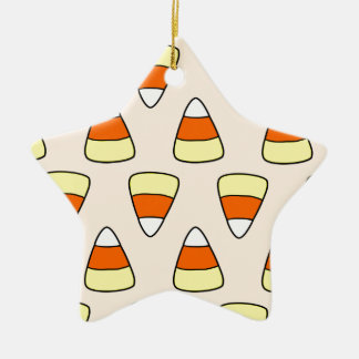Candy Corn Ceramic Star Decoration