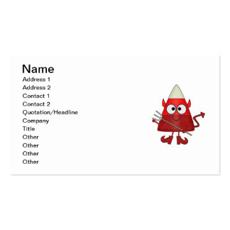 Candy Corn Devil Halloween Business Card