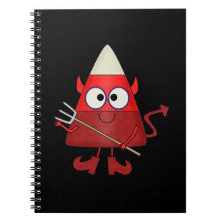 Candy Corn Devil Halloween Spiral Notebook
