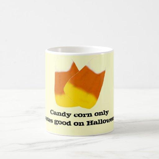 Candy Corn for Halloween Coffee Mugs
