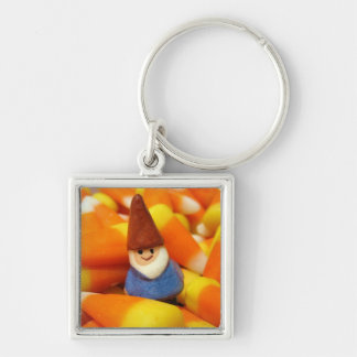Candy Corn Gnome Key Ring