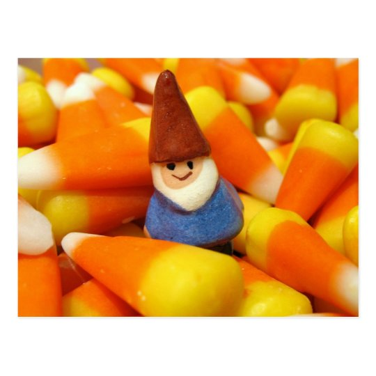 Candy Corn Gnome Postcard
