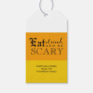 Candy Corn Halloween Be Scary  Gift Tags