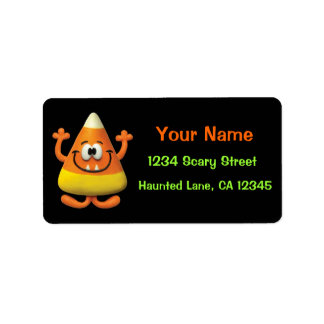 Candy Corn Halloween Boo Party Label