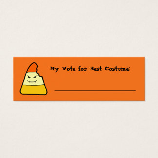 Candy Corn Halloween Games Voting Card