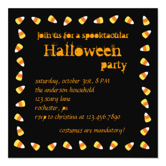 Candy Corn Halloween Invitation