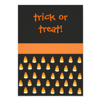 Candy Corn Halloween Invite