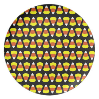 Candy Corn Halloween Plate