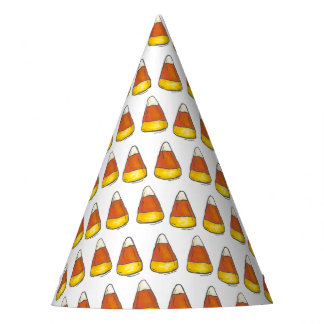 Candy Corn Halloween Thanksgiving Trick or Treat Party Hat