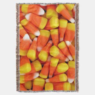 Candy Corn Halloween Throw Blanket