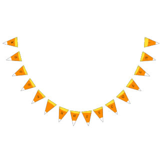 Candy Corn Happy Halloween - Bunting Flags