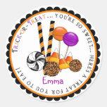 Candy Corn Lollipop Halloween Treat Stickers