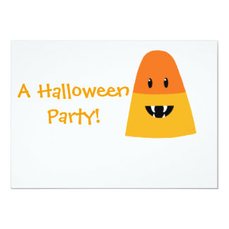 Candy Corn Monster Invitation