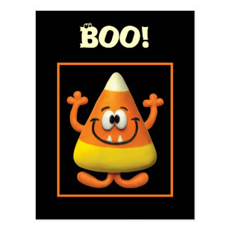 Candy Corn Monster Postcard