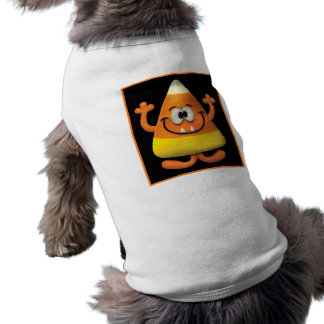 Candy Corn Monster Sleeveless Dog Shirt