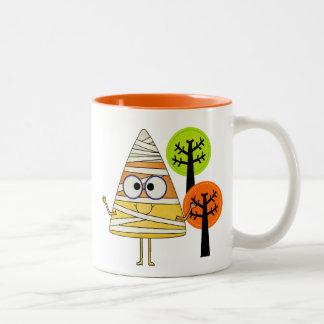 Candy Corn Mummy Halloween Coffee Mug