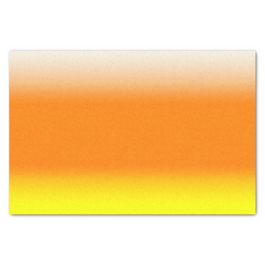 Candy Corn Ombre Gradient White Orange Yellow Tissue