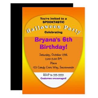Candy Corn Orange Halloween Party Invitations