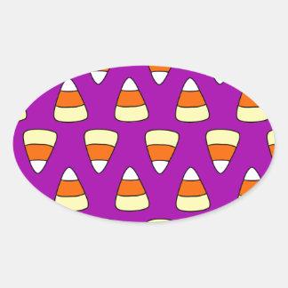Candy Corn Oval Sticker