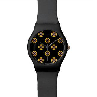 Candy Corn Pattern Wrist Watch
