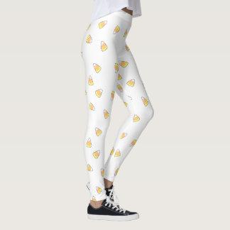 Candy Corn print pants, watercolor candy corn Leggings