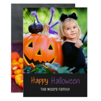 Candy Corn Pumpkin Happy Halloween Photo Card
